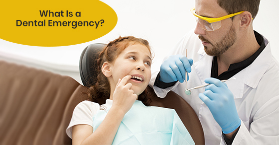 cute girl undergoes dental emergency treatment in clinic